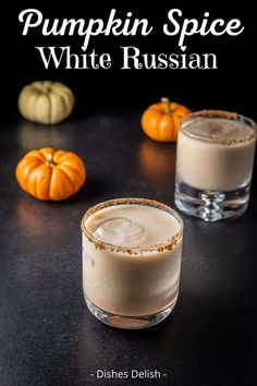 The melding of the Kahlúa, vanilla vodka, pumpkin and half & half is so delicious you'll have to remind yourself that it is not a melted milk shake but a potent cocktail! White Russian Recipes, Russian Dishes, Tootsie Roll Shot, Tasty Dishes, Food Dishes, White Russian Cocktail, Caramel Vodka, Vanilla Vodka, Pumpkin Lights