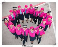 AZUL Brazilian Airlines. In October the Blue Angels become angels Roses. Breast cancer prevention campaign.