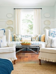 Could your living room's style use a bit of a boost? We've got you covered with 35 project ideas sure to freshen up your favorite hangout in a weekend or less.