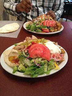 Amazing food and great staff. Shawarma Palace, Canada Lifestyle, Street Chicken, Ottawa Canada, Cobb Salad, Plates, Drink, Amazing, Ethnic Recipes