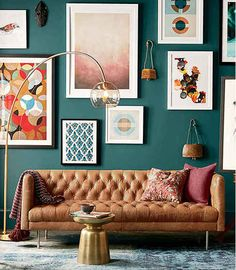 Need this wall color somewhere in my home!  West Elm: Sherwin Williams - Deep Sea Dive