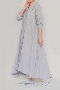 Linen Ayni Dress by LINUM - Linen Style-5 Linenstyle Duster Coat, Nature, Jackets, Clothes, Dresses, Style, Fashion, Down Jackets, Outfits