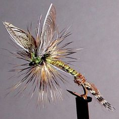 Wally Wing Green Drake Emerger. Klinkhammer hook, wood duck and Antron tail turkey biot body ribbed with silk thread, turkey flat Wally wings, Whiting Farms Cree rooster hackle, Semperfli Spyder 19/0 thread. #flyfishing #flytying