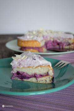 Angel Cake für Valentinstag, fluffier, chiffon cake, Chiffon Kuchen, Biskuit Torte, Schichttorte