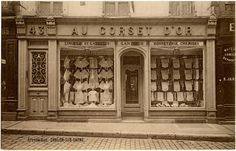 Fantastic Vintage French Corset Store Photo! - The Graphics Fairy