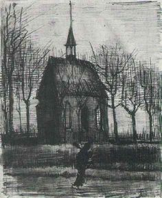 Church in Nuenen, with One Figure, Vincent van Gogh