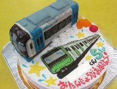 名鉄2000系ミュースカイ&山手線イラストケーキ