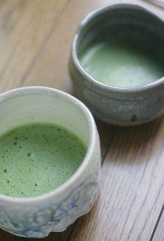 Japanese matcha tea...such a beautiful color!