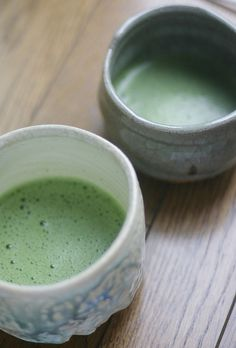 Japanese matcha tea...such a beautiful color!