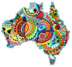 aboriginal art projects for naidoc week Aboriginal Art For Kids, Aboriginal Flag, Aboriginal Education, Aboriginal Tattoo, Aboriginal Painting, Dot Painting, Australia Crafts, Australia Map, Australia School
