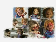 Chucky Chucky, Collage, Painting, Art, Movies, Art Background, Collages, Painting Art, Kunst