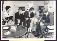 1962 John F Kennedy and Astronaut Walter Schirra