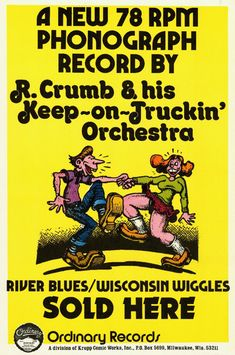 Robert Crumb And His Keep-On-Truckin' Orchestra flyer