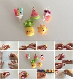 How to Make Polymer Clay Summer Charms