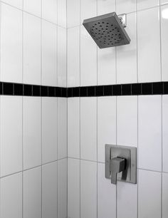 Learn various ways to lay white subway tiles to create a unique look in your kitchen or bathroom. White Bathroom Tiles, Attic Bathroom, Bathroom Wall, Bathrooms, Bathroom Ideas, Subway Tile Patterns, Wall Patterns, Subway Tiles, Vertical Shower Tile