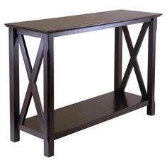Features: -Solid and composite wood construction. -Cappuccino finish. Top Finish: -Brown. Top Material: -Wood. Base Material: -Wood. Hardware Material: -Metal. Dimensions: Overall Height - Top