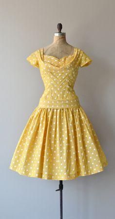 Cheerful Charmer dress 1950s polka dot dress by DearGolden