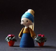 miniatura quilling - florista