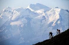 Mark Shapiro Photography - Biking in Verbier Lausanne, Stockholm, Shot Show, Biking, Mount Everest, Silhouette, Mountains, Black And White, Wall