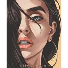 Vector Portrait, Digital Portrait, Portrait Art, Illustration Art Drawing, Portrait Illustration, Digital Illustration, Cityscape Drawing, Africa Art, Graphic Artwork