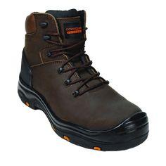 Παπούτσια Ασφαλείας – Ανδρικά - Γυναικεία, παπούτσια Ανατομικά, Αδιάβροχα, Αντιολισθητικά, Αντιστατικά, με ασφάλεια πέλματος και δακτύλων (S1P, S3, S3SRC) και ακόμα μεγαλύτερη ποικιλία σε παπούτσια αθλητικά με ασφάλεια, καθώς επίσης και παπούτσια ελαφριά εργασίας σε μοναδικές τιμές μόνο στην Pegasosafety Θεσσαλονίκη.  Τα Μποτάκια εργασίας TOPAZ HIGH 9TOPH της Coverguard είναι κατασκευασμένα από άριστο επεξεργασμένο και αδιαβροχοποιημένο δέρμα μόσχου σε καφέ χρώμα.Άνετη και φαρδιά γραμμή