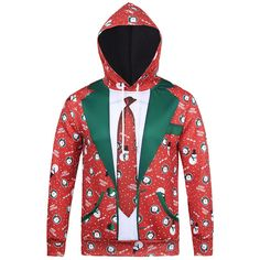 17ee0208 Christmas Theme Funny Suit Printing Front Pocket Casual Sport Hoodies from  Men's Clothing & Hoodies and Sweatshirt on Gchoic mobile site