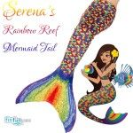Serena's Rainbow Reef Mermaid Tail- New!