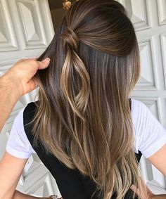 Quick Hairstyle Straight Long Hair Cut Light Brown Hair Color with . - Quick Hairstyle Straight Long Haircut Light Brown Hair Color with Clear Lights Fashion Trend 2019 F - Brown Hair Color Shades, Brown Ombre Hair, Brown Hair Balayage, Brown Blonde Hair, Ombre Hair Color, Light Brown Hair, Hair Color Balayage, Brown Hair Colors, Brunette Hair
