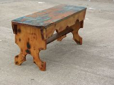 primative italian wooden benches - Google Search