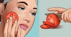 Βάλτε μια φέτα ντομάτας στο πρόσωπό σας και περιμένετε για 1 ώρα. Εκπληκτικό !
