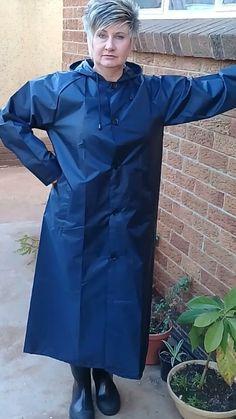 Nylons, Mackintosh Raincoat, Rubber Raincoats, Rain Wear, Women's Fashion, Suits, Jackets, Blue, Hair Makeup