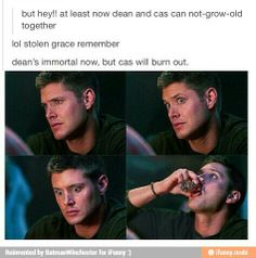 Haha some of these Destiel things are too funny.