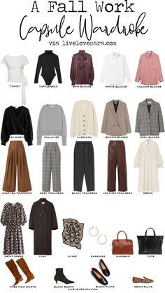 Capsule Wardrobe Work, Capsule Outfits, Fashion Capsule, Work Wardrobe Essentials, Wardrobe Staples, Work Outfits, Capsule Wardrobe How To Build A, Outfit Essentials, Office Wardrobe