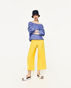 Image 1 of HIGH RISE TROUSERS from Zara