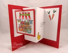 The Rubber Cafe Design Team Blog: Farm Fresh Zig Zag Card - step-by-step #tutorial