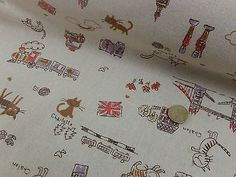 Cotton Fabric Rustic Vintage Style Linen/canvas look/weight childrens/ London