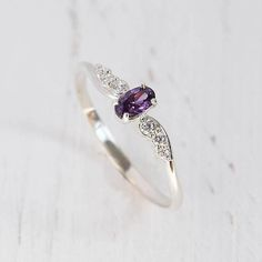 Dainty ring, Modern ring, Delicate ring, Amethyst ring, Promise ring silver, Elegant ring, Purple stone ring, Oval cut ring,Fine ring silver  WE OFFER UNLIMITED PERIOD INSTALLMENTS PLAN  This is a beautiful, stunning, feminine ring that works well for all occasions, styles, and ages. You