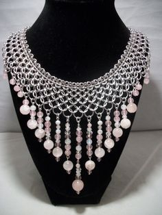 the most beautiful collar i've ever seen!  what an amazing and romantic gift this one would be...sigh  Stunning Chainmaille Collar Necklace with Rose by GypsyGrove, $50.00