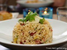 Risotto med ruccula og parmaskinke Risotto, Grains, Rice, Dinner, Food, Eten, Meals, Jim Rice, Korn