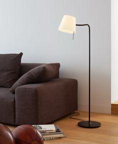 bow stehleuchte mattnickel einrichtung lichtlein und m bel. Black Bedroom Furniture Sets. Home Design Ideas
