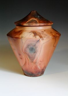 Saggar fired Lidded Container. Anthony Rollins