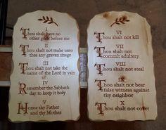 Ten Commandments Tablets Carved Sold Spruce by LivingWoodStudio, $129.00