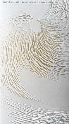 «Quasimodo Remixed» Series - n12 detail | domitilla biondi paper carving _______ #papercarving #papercut #paperwork #paperpoetry #minimal #basrelief #miniature #white #shadowart #italianartist #japaneseart #harmonia #beauty #spirituality #paperporn #magnifique #light #love