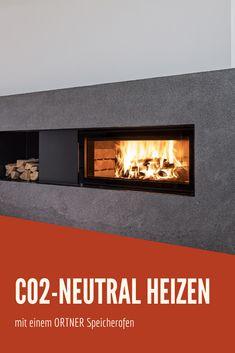 Bei einer optimalen Verbrennung von Holz kommt es beim Einheizen mit einem Speicherofen zu keinen zusätzlichen Emissionen, stattdessen wird ausschließlich das zuvor aufgenommene CO2 wieder abgegeben. Mit einem ORTNER Speicherofen heizen Sie also CO2-neutral und umweltbewusst. #ortner #speicherofen #kamin #kaminofen #kachelofen #umwelt #co2einsparen #winter #heizung #klimawandel #wohnzimmer #interior Co2 Neutral, Winter, Home Decor, Fireplace Heater, Living Room, Timber Wood, Winter Time, Decoration Home, Room Decor