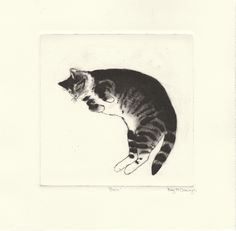 'Ben' Drypoint Etching by Kay McDonagh.  Original prints available.