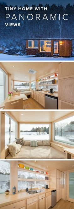 The breathtaking interiors and exteriors of this tiny house provide the ultimate home decor inspiration. The breathtaking interiors and exteriors of this tiny house provide the ultimate home decor inspiration. Tyni House, Tiny House Living, Small Living, Living Room, Tiny House Movement, Tiny House Plans, Tiny House On Wheels, Casas Containers, Tiny Spaces