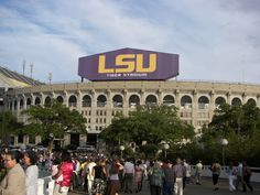 LSU Baton Rouge Louisiana been though we're not Tiger fans, we've been here MANY times watching football games. Several of those being in the club section. We had great fun tailgating and football with friends! Baton Rouge Louisiana, Louisiana Homes, Lsu Tiger Stadium, Lsu Tigers, Gulf Of Mexico, Death Valley, Best Memories, Mississippi, New Orleans