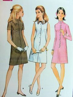 DART FITTED SLIM DRESS PATTERN 3 VERSIONS McCALLS Authentic vintage sewing patterns: This is a fabulous original dress making pattern, not a copy. Because the sewing patterns are vintage and preowned, we check each vintage sewing pattern Vintage Outfits, Vintage Fashion, Vintage Clothing, Vintage Style, Hairspray Costume, Dress Making Patterns, Vintage Sewing Patterns, Style Me, Slim