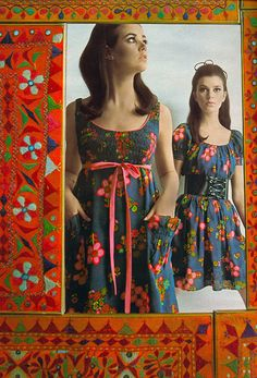 Colleen Corby, I think I had this dress. 60s Fashion Trends, 60s And 70s Fashion, Seventies Fashion, Retro Fashion, Fashion Models, Vintage Fashion, Fashion Today, 60s Style Clothing, Vintage Clothing
