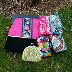 Vera Bradley Bundle ( All 9 ) Listing is for all 9. The pink clutch is new without tags and the rest are in excellent - good condition Vera Bradley Bags